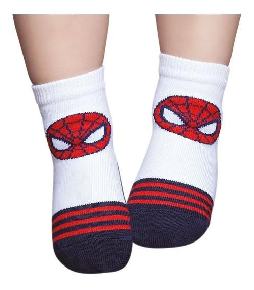 Meia Infantil Masculino Bebê Spider Man Puket