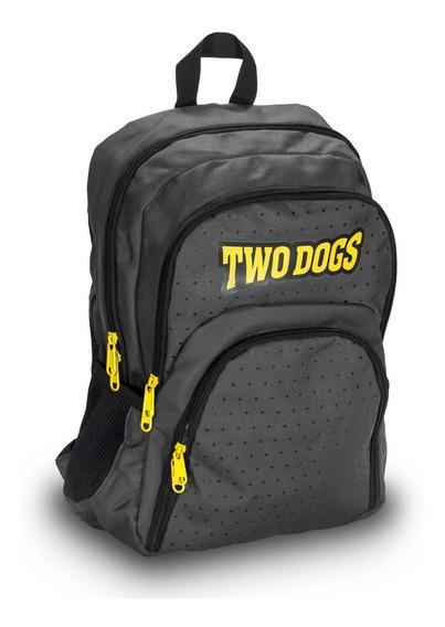 Mochila Two Dogs Notebook Casual 20l C/ Usb E P2 Cinza