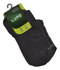 Meia Lupo Invisível Sport Soquete Original Kit C/ 3 Unidades