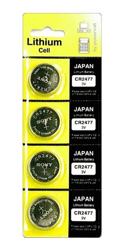 Bateria Sony Cr2477 Lithium 3v | Cart C/4 Pilha