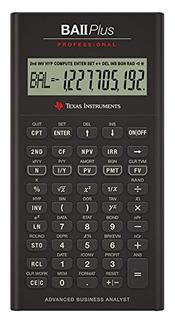 Texas Instruments Ba Ii Plus Calculadora Financiera Profesio