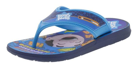 Chinelo Infantil Luccas Neto Grendene Kids - 22154 Azul