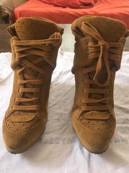 Botas Zapatillas Taco Escondido Mujer Sneaker Zara