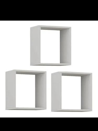 Imagem 1 de 1 de Kit Com 3 Nichos Decorativos Em Mdf Branco.