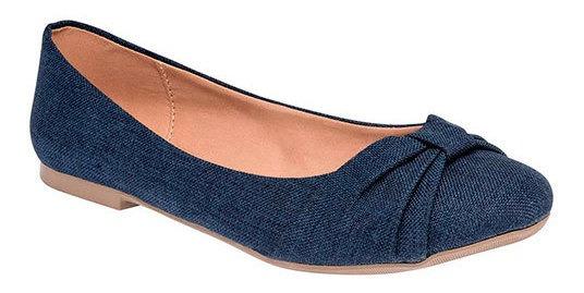 Zapato Piso Textil Azul Dama Caramel C27938 Udt