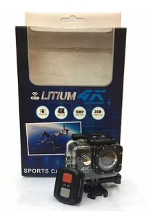 Camara Sport Pro Litium 4k Ultra Hd Wifi 16mp Hdmi Usb Sd, Mania-electronic