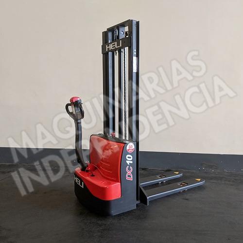 Apilador Electrico Heli 1000 Kg Cdd10 Cargador Incorporado