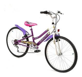 Bicicleta Musetta Rod 24 Fantasy 6 Vel Env Gra Cuotas Sin In