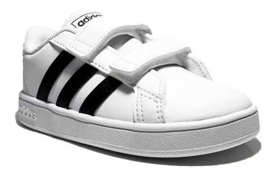 Tenis adidas Para Niños Escolares Grand Court 1 Blanco/negro Comodos Originales