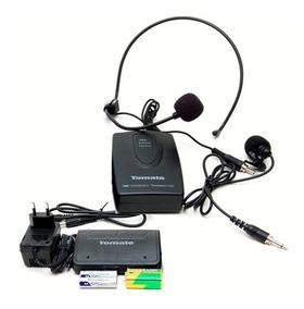 Kit Microfone Sem Fio Lapela Head Set Aula Palestra Wireless