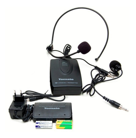 Kit Microfone Sem Fio Lapela Head Set Aula Palestra Wireless