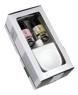 Kit Presente Difusor Aromatizador Porcelana Via Aroma