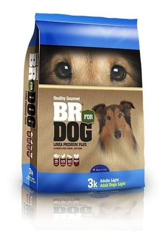 Br For Dog Perros Adultos Light Obesidad Sobrepeso 3kg