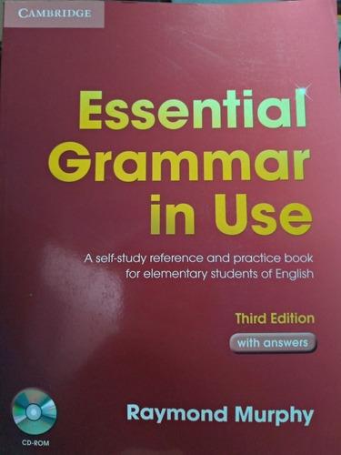 Livro  Essencial Grammar In Use - Com Cd Rom