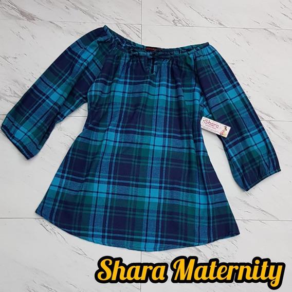 Camisa De Maternidad A Cuadros