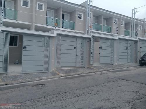 Imagem 1 de 15 de Sobrados Novos - 3 Dormitórios ( Suíte ) - 2 Vagas - St9037