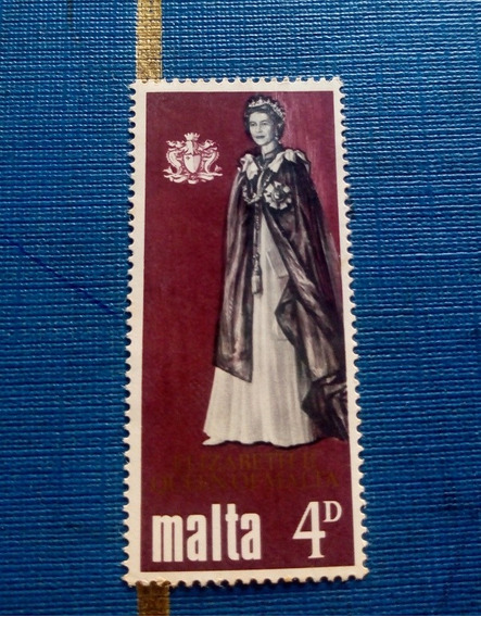Selo Postal Malta Elizabeth Ii Quen Of Malta 4-d