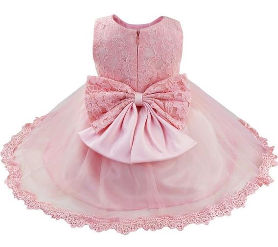 Vestido Bebê Festa Princesa Realeza Batizado Brinde Tiara