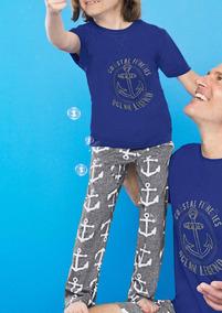 Pijama Estampado De Anclas Azul Gris 1354850 Ferrato Kids