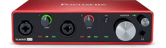 Interface Áudio Usb Scarlett 4i4 3nd Gen Focusrite Mfull