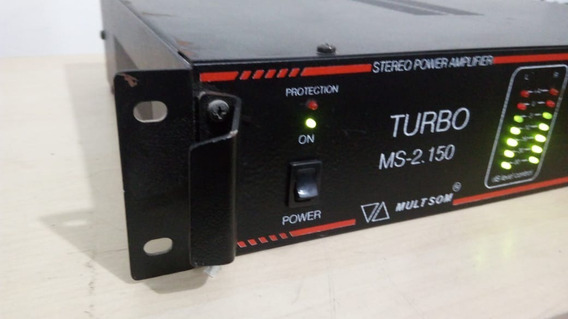 Amplificador De Potencia Mult Som Turbo Ms-2150 70v