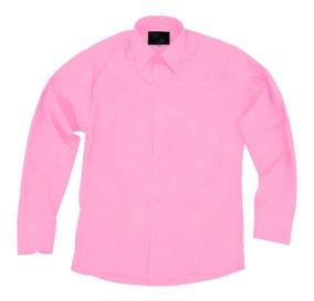 Camisa Infantil Juvenil Salidas Escolares Rosa Pastel 2 A 16