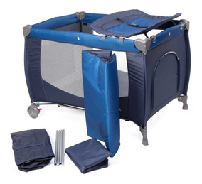 Berço Portátil Cielo Da Infanti (até 15kgs) - Azul
