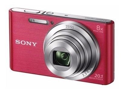 Câmera Sony Cyber-shot Dsc W830 Zoom 8x 20.1mp Rosa Nova