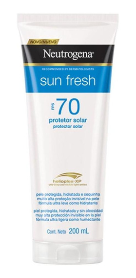 Protetor Solar Neutrogena Sun Fresh Corpo Fps 70 200ml