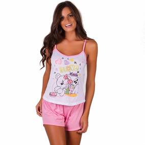 Kit 4 Baby Doll Malha Camiseta - Short Doll Verão Conforto