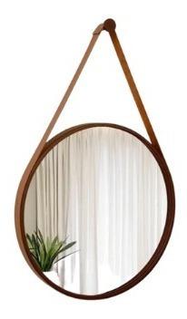 Espelho Redondo Com Alça Decorativo Adnet 45cm Ø