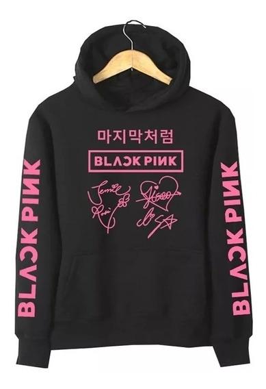 Moletom Agasalho Casaco Black Pink Musica Blusa De Frio