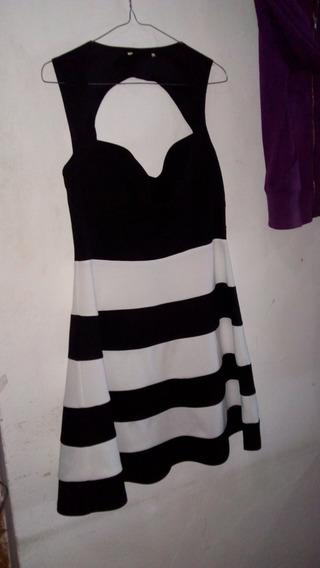 Vestido Dama Tala L Will Bleed (negro Y Blanco) Poliester