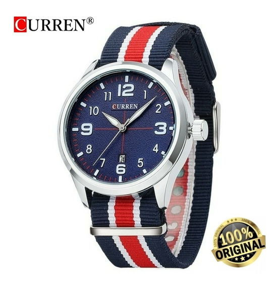 Relógio Masculino Curren Esportivo Militar 8195 Original