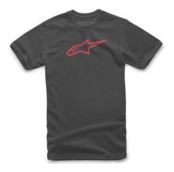 Camiseta Alpinestars Ageless Classic Preta Vermelh Original