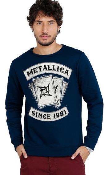 Moletom Metallica Since 1981 - Bandas De Rock Camisa Rock