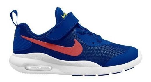 Tenis Padres Original Nike Air Max Oketo Bpv 0403 Azul Niño