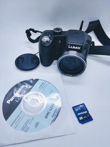Camera Fotográfica Digital Panasonic Lumix Dmc-lz20 Preto