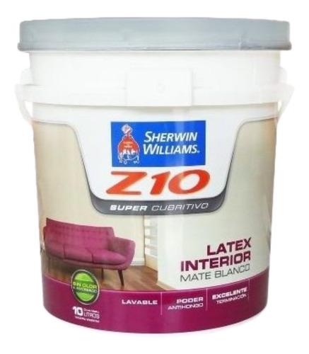 Latex Z10 Interior Supercubritivo 10lt 18 Cuotas Sin Interes