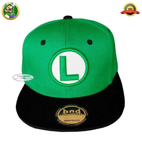 Luigi Juego Mario Bros Gorra Cosplay Gamers Nintendo Luigi