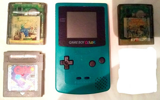 Game Boy Color Con 3 Juegos Originales Todo Funcionando Gbc