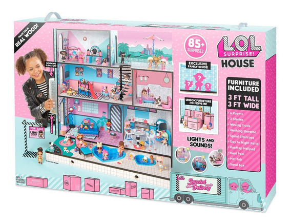 Casa Da Lol 63 Cm E Mini Bonecas - Lol - Surprise House - 85