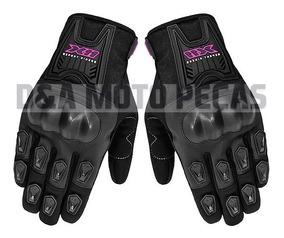 Luva X11 Motociclista Blackout Com Proteção Feminina Tam P
