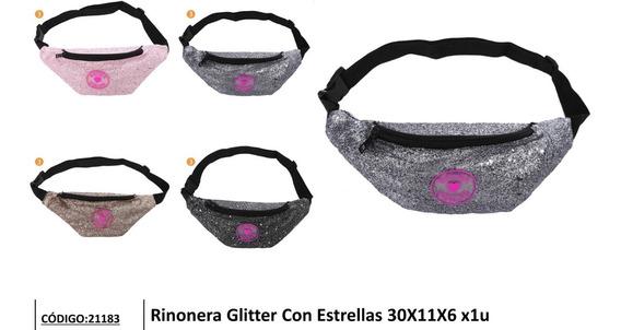 Riñonera Skora Teen Glitter Con Estrellas