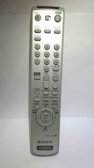 Controle Remoto Original Video Cassete Sony Rmt-v312