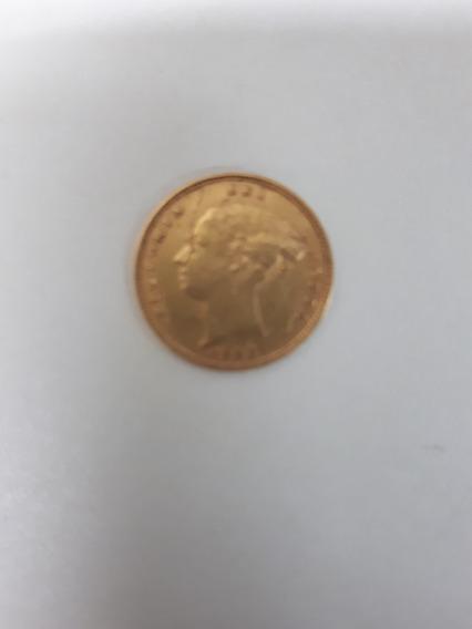 Moneda De Oro Antigua 1885