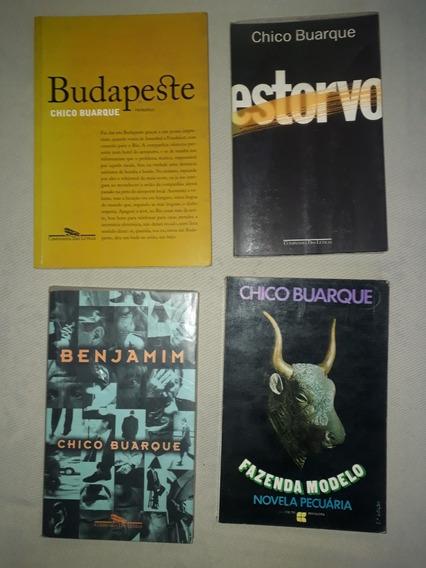 Lote 4 Livros Chico Buarque