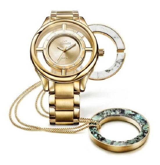 Relógio Technos Feminino Signature Gl30fk/k4x Dourado