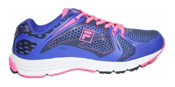 Zapatillas Fila Running Fly Mujer Azul Combinada