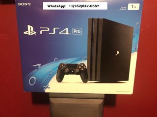 Sony Playstation 4 Pro 1tb Black Console With Original Box
